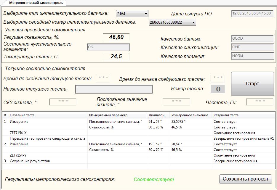 Метрологический самоконтроль ZET 7154