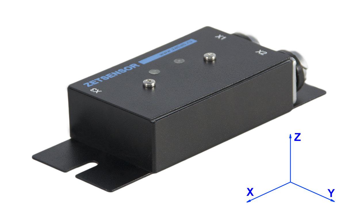 Направление осей измерения цифровых датчиков ZET 7X52
