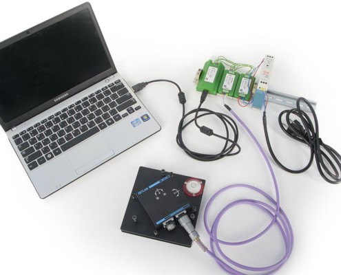 ZET 7054 digital inclinometer - system components