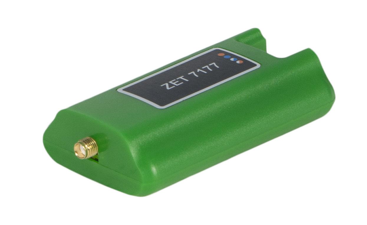 ZET 7177 Преобразователь интерфейса. Сторона подключения GSM-антенны. Разъем SMA