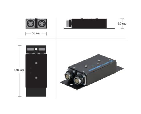 Габаритные размеры цифровых акселерометров ZET 7152-N