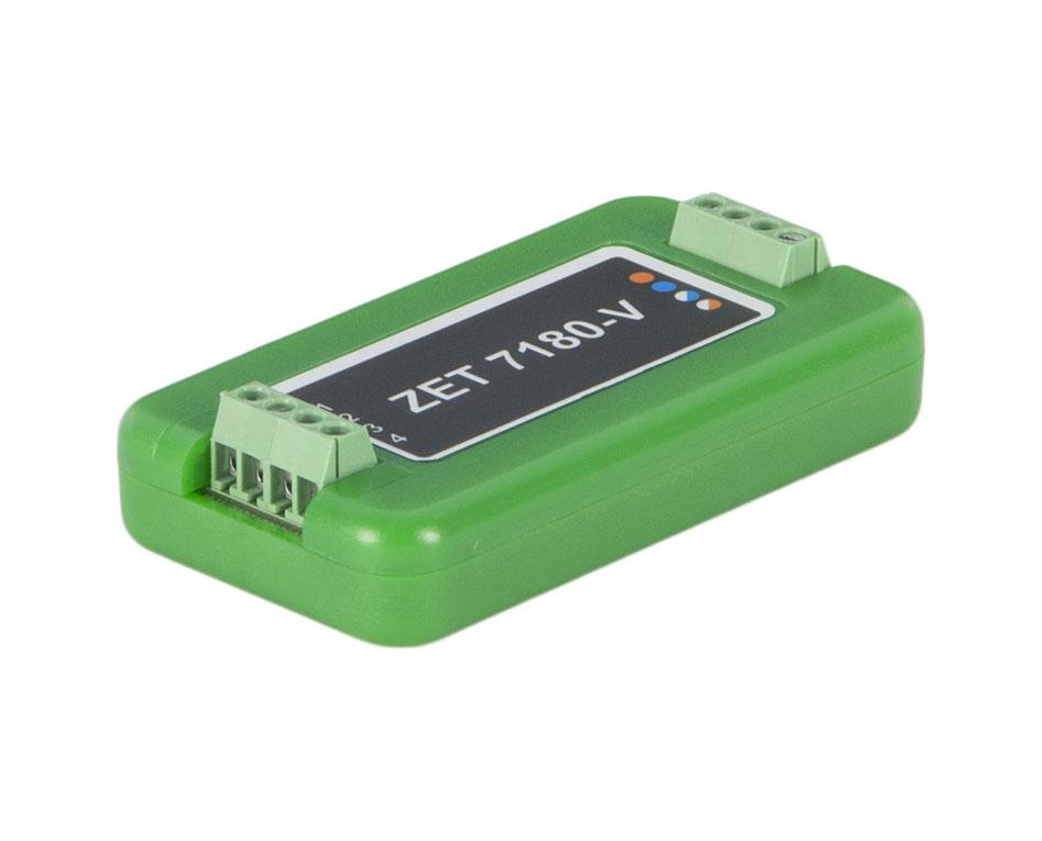 Измерительный модуль ZET 7180-V. Сторона подключения первичного преобразователя
