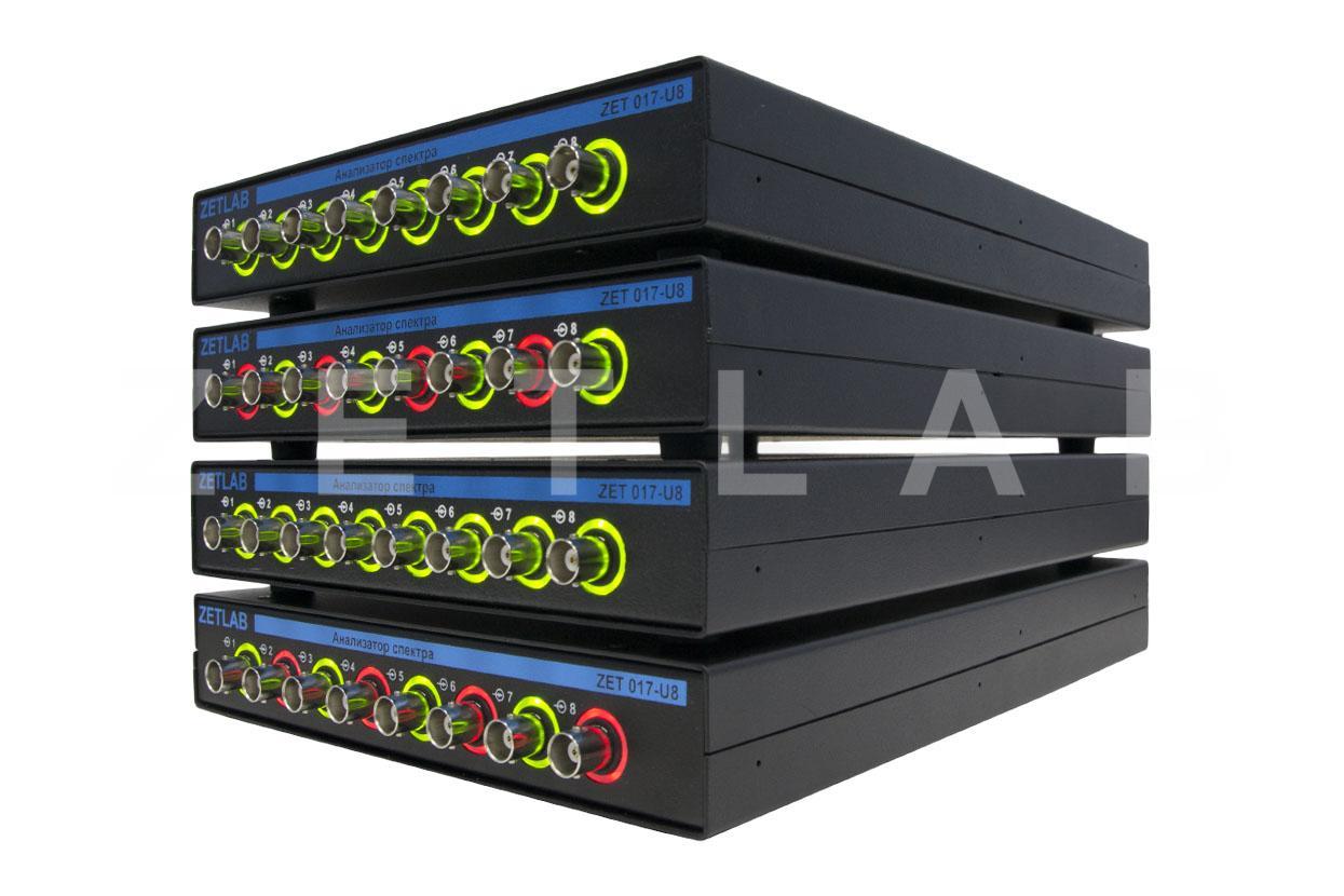 Анализатор спектра ZET 017-U32 вид сбоку, индикация