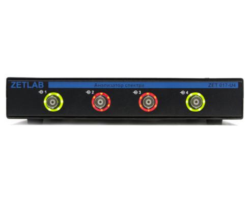 Анализатор спектра ZET 017-U4 вид спереди, индикация