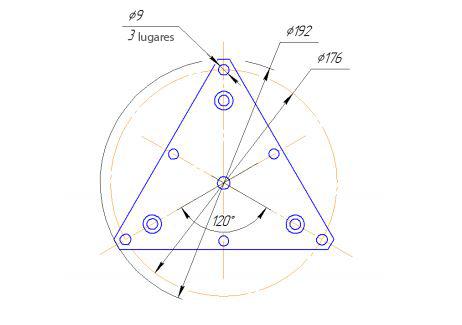 Dimensiones de conexión de la placa de montaje