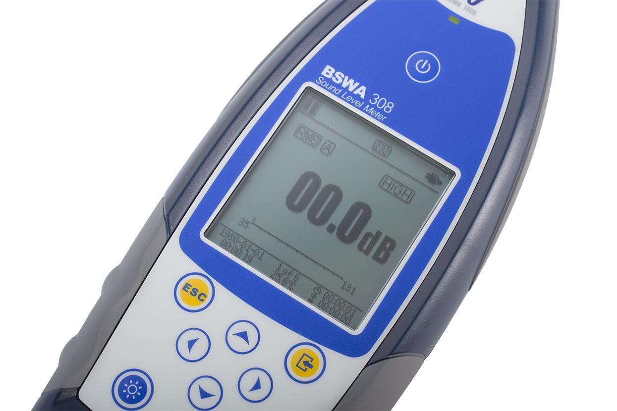 Панель управления интегрирующего шумомера BSWA 308