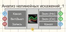 Анализ нелинейных искажений - Режим проектировщика