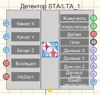 Детектор STA/LTA - Режим проектировщика