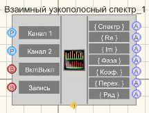 Взаимный узкополосный спектр - Режим проектировщика