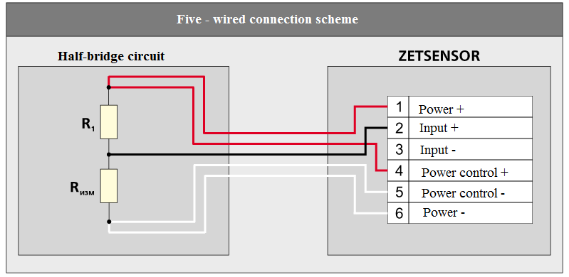 Five-wired connection scheme