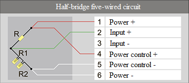 Half-bridge five-wired circuit 2