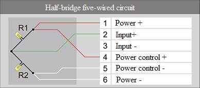 Half-bridge five-wired circuit 3