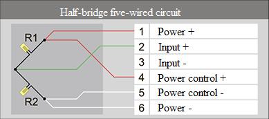 Half-bridge five-wired circuit 4