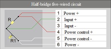 Half-bridge five-wired circuit 5