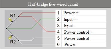 Half-bridge five-wired circuit 6