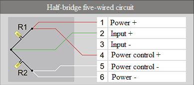 Half-bridge five-wired circuit 7