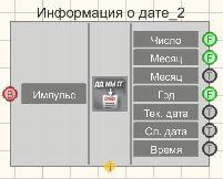 Информация о дате - Режим проектировщика
