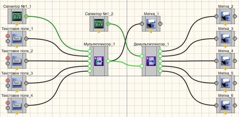 Мультиплексор - Пример