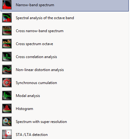Narrow-band spectrum - cover