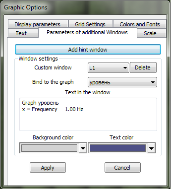 Narrow-band spectrum - graph display options