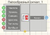Пилообразный сигнал - Режим проектировщика