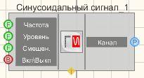 Синусоидальный сигнал - Режим проектировщика