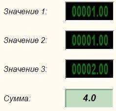 Сумматор - Результат работы проекта