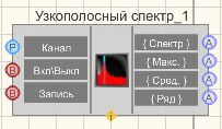 Узкополосный спектр - Режим проектировщика