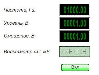 Вольтметр переменного тока - Результат работы проекта