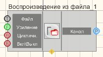 Воспроизведение из файла - Режим проектировщика