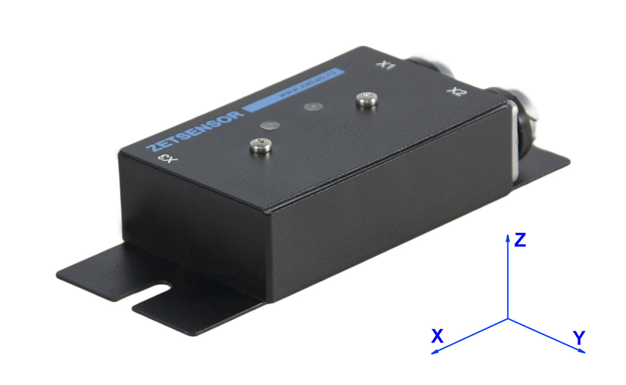 Direction of measuring axes for digital sensors ZET 7X52