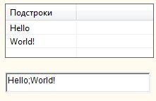Формировщик массивов (деление строки) - Результат работы проекта