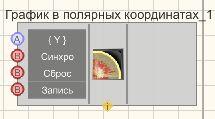 График в полярных координатах - Режим проектировщика