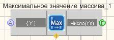 Максимальное значение массива - Режим проектировщика