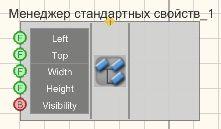 Менеджер стандартных свойств - Режим проектировщика
