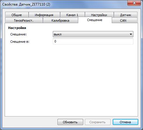 Offset tab 7110