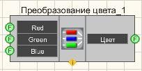 Преобразование цвета - Режим проектировщика