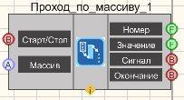 Проход массива - Режим проектировщика