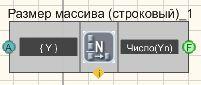 Размер массива (строковый) - Режим проектировщика