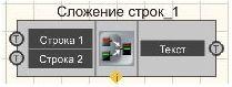 Сложение строк - Режим проектировщика