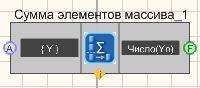 Сумма элементов массива - Режим проектировщика