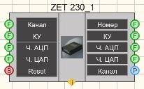 ZET 230 - Режим проектировщика
