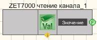 ZET 7000 чтение канала - Режим проектировщика