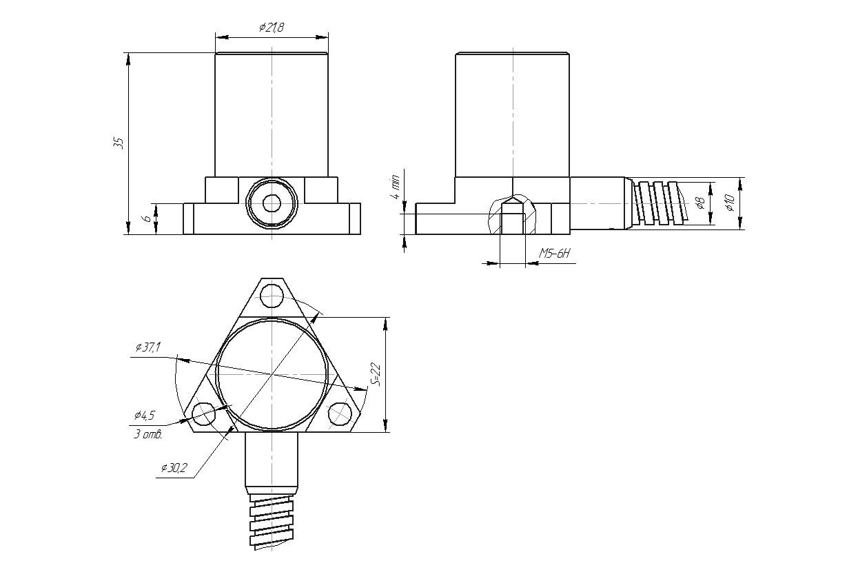 Velocimeter BC 114 - dimensions
