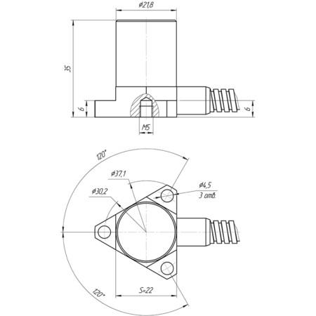 ZET114 габаритно-присоединительный чертёж