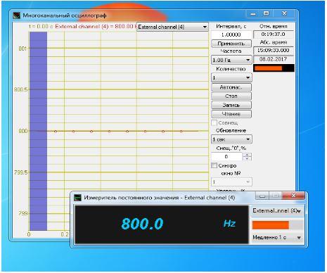 Отображение данных от датчиков стороннего производства в ПО ZETLAB