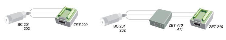 Connection scheme via ADC accelerometer BC