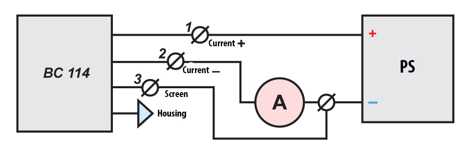 Scheme of connection of Velcom meters BC 114 to the power supply