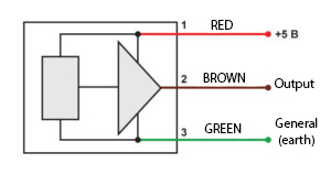 The electric scheme of the accelerometer of the BC
