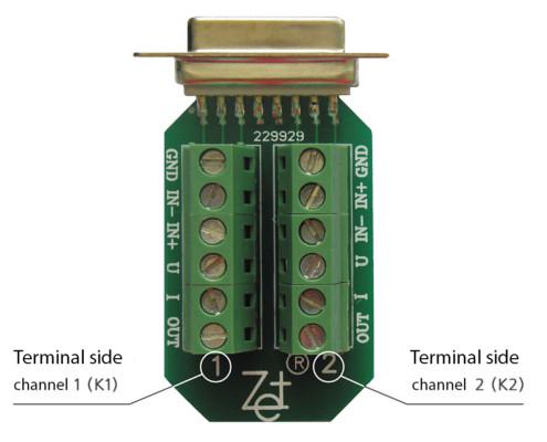 ZET 410 Signal Amplifier - terminal board scheme